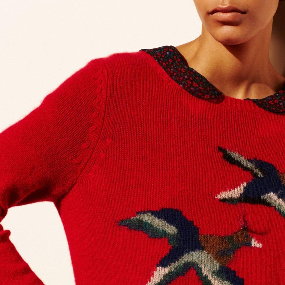 Coach Bird Intarsia Sweater Alternate View 4