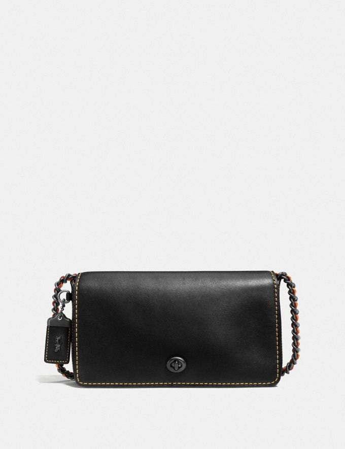 Coach Dinky Black Copper/Black Women Bags Crossbody Bags