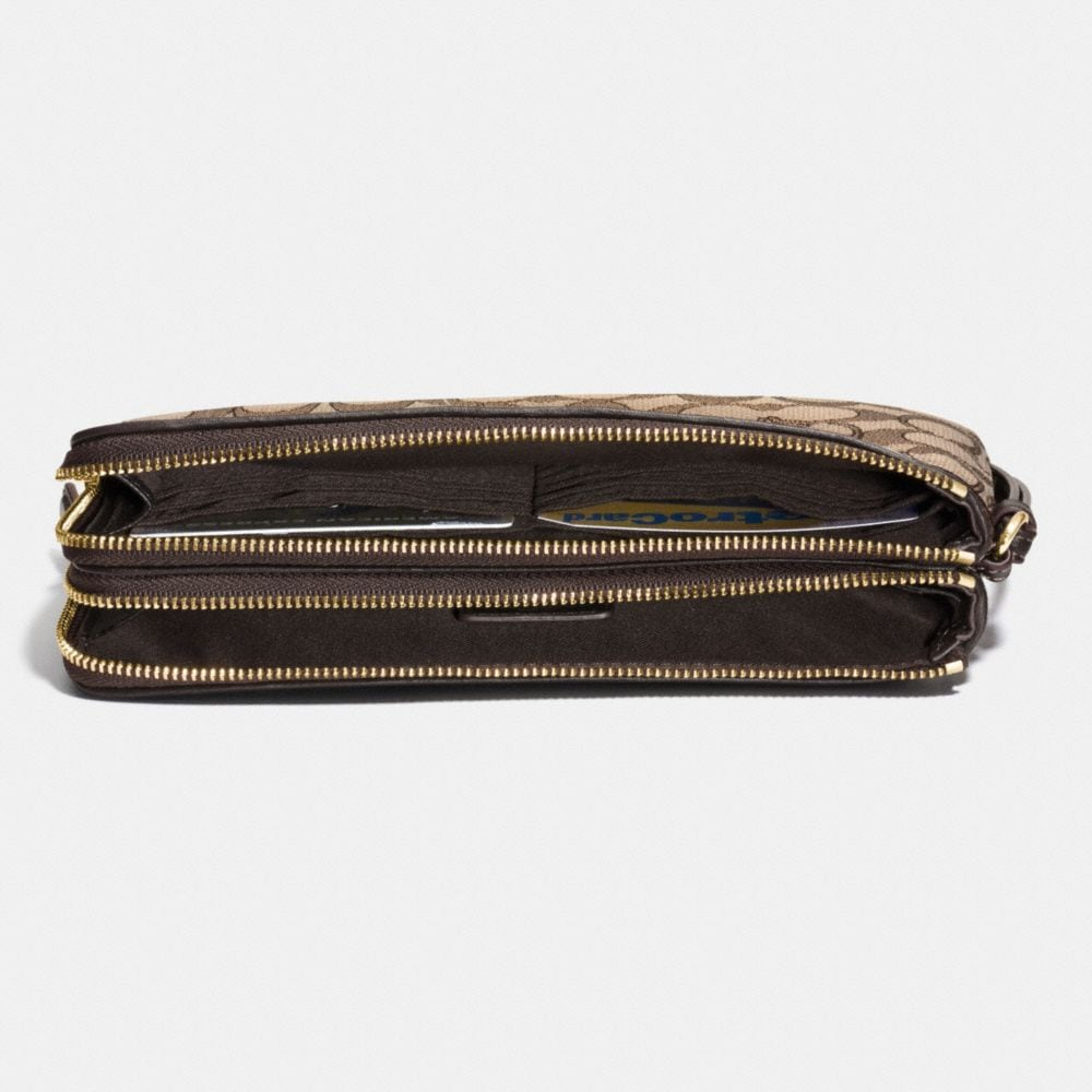 Double Zip Wallet in Signature Jacquard - Alternate View L1
