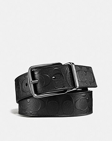 WIDE HARNESS CUT-TO-SIZE REVERSIBLE BELT IN SIGNATURE LEATHER ... c1a7d3895b04