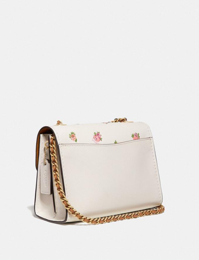 Coach Parker 18 With Mini Vintage Rose Print Chalk Multi/Brass Women Bags Shoulder Bags Alternate View 1