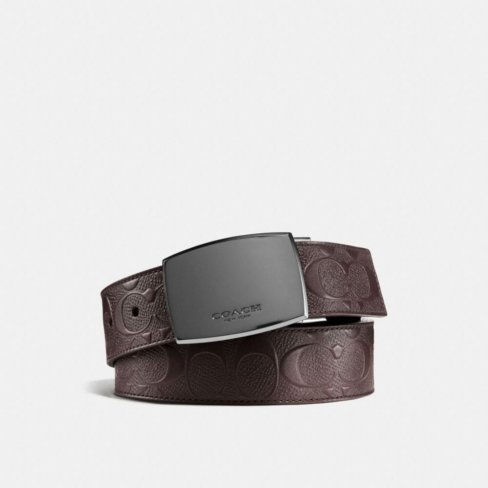 Coach Classic Plaque Cut-To-Size Reversible Belt