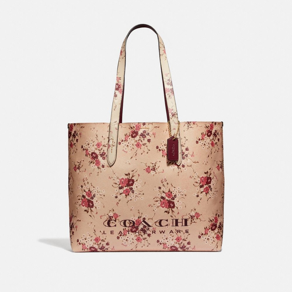 HIGHLINE TOTE WITH FLORAL PRINT