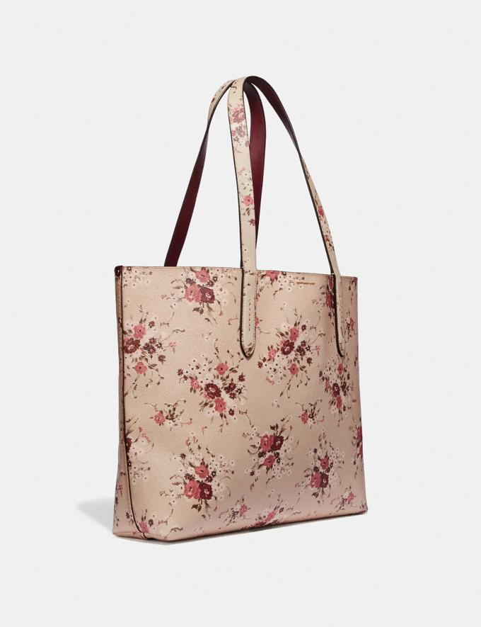 Coach Highline Tote With Floral Print Beechwood/Gold New Featured Online Exclusives Alternate View 1