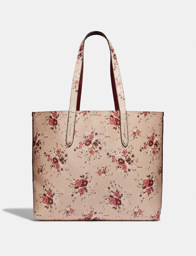 Coach Highline Tote With Floral Print Beechwood/Gold New Featured Online Exclusives Alternate View 2