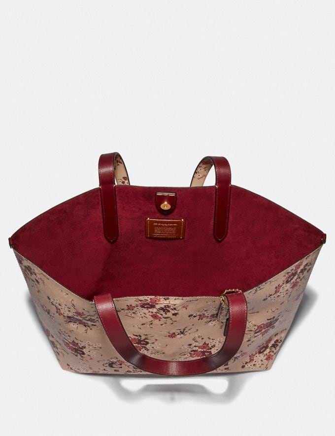 Coach Highline Tote With Floral Print Beechwood/Gold New Featured Online Exclusives Alternate View 3