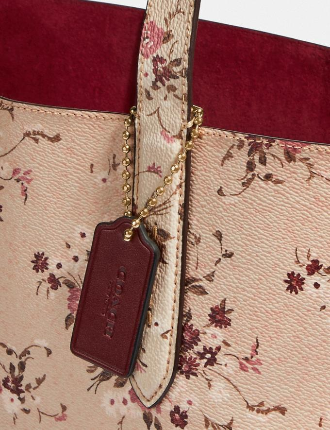 Coach Highline Tote With Floral Print Beechwood/Gold New Featured Online Exclusives Alternate View 5