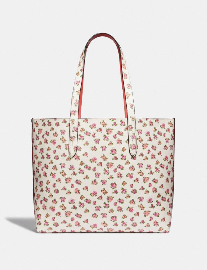 Coach Highline Tote With Floral Print Chalk/Gold Women Bags Totes Alternate View 2