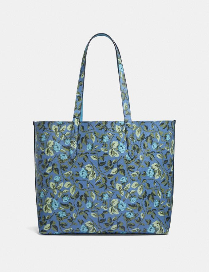 Coach Highline Tote With Floral Print Slate/Silver New Featured Online-Only Alternate View 2