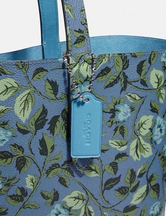 Coach Highline Tote With Floral Print Slate/Silver New Featured Online-Only Alternate View 5