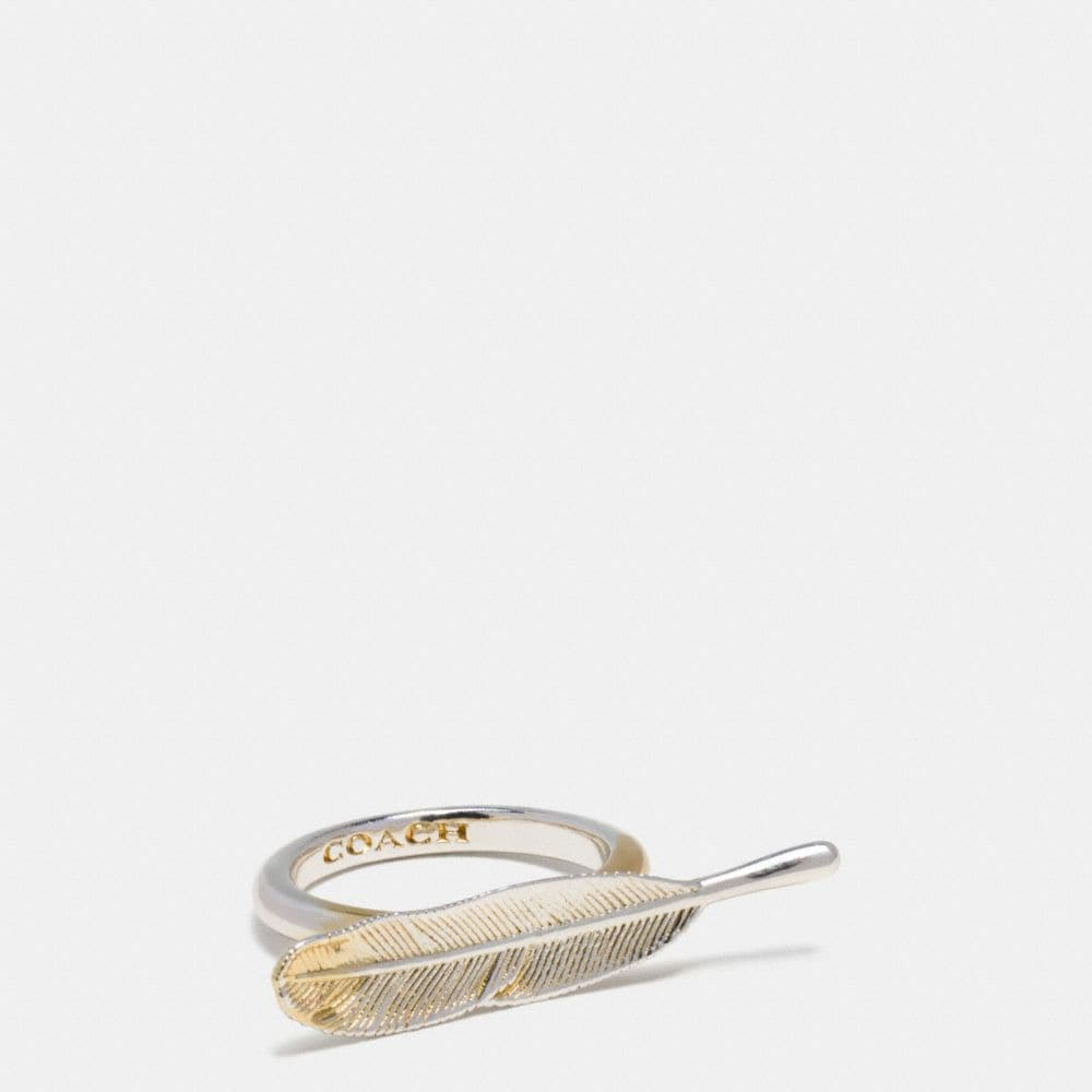 Coach Gilded Feather Ring