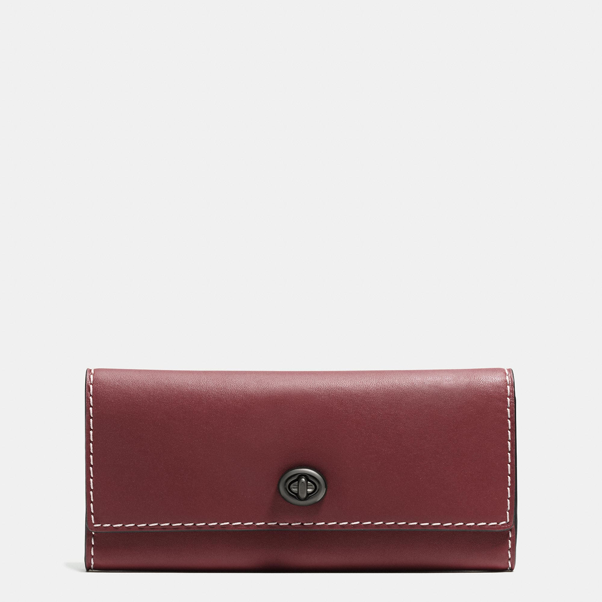 Coach Turnlock Wallet In Burnished Glovetanned Leather