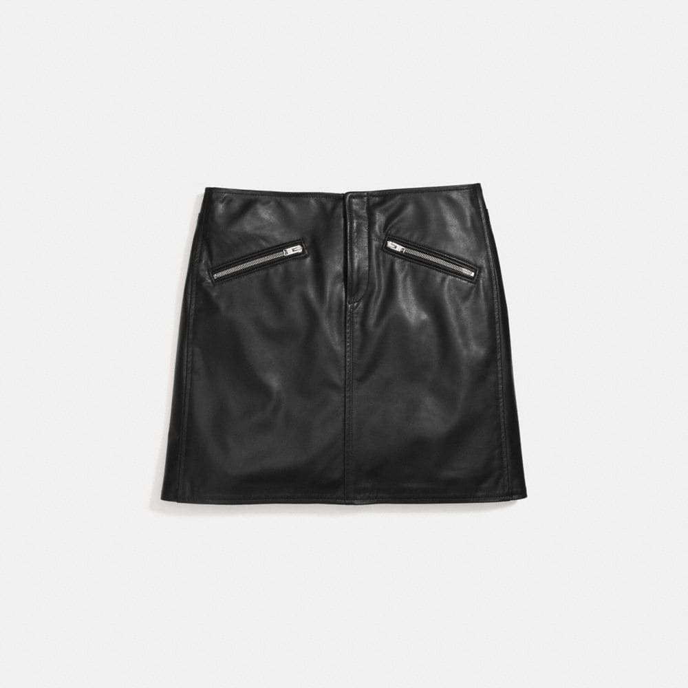 Coach Leather Skirt