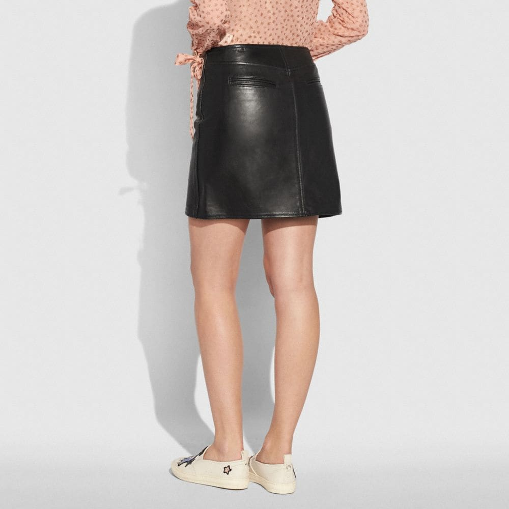 Coach Leather Skirt Alternate View 2
