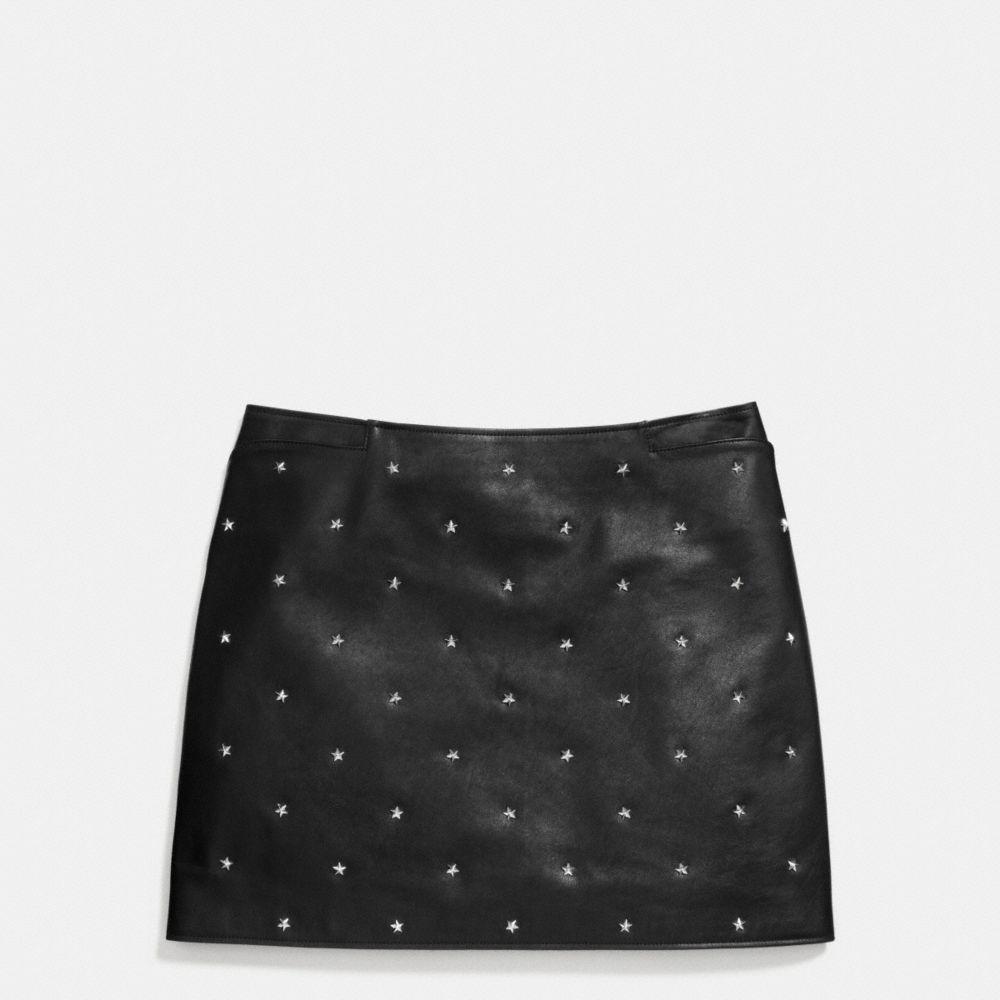 Star Stud Leather Mini Skirt - Alternate View A1
