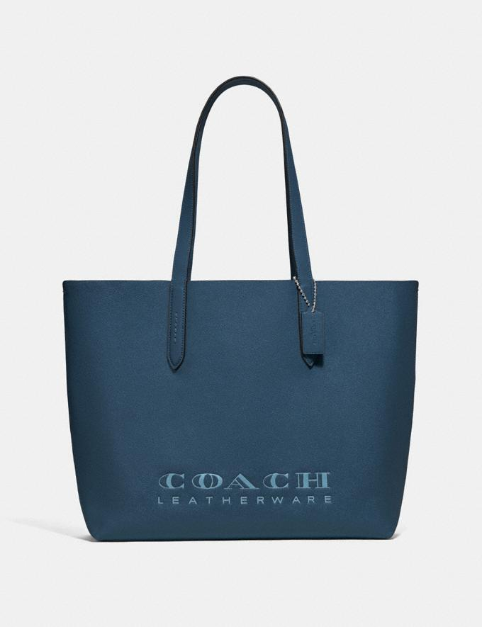 Coach Highline Tote Dark Denim/Silver Personalise Personalise It Monogram For Her
