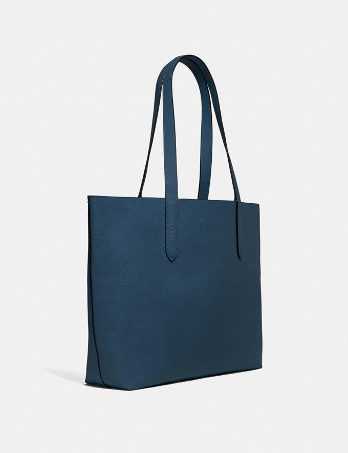 Coach Highline Tote Dark Denim/Silver Personalise Personalise It Monogram For Her Alternate View 1