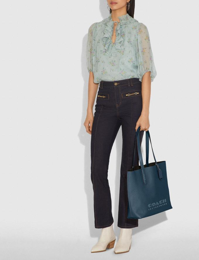 Coach Highline Tote Dark Denim/Silver Personalise Personalise It Monogram For Her Alternate View 4