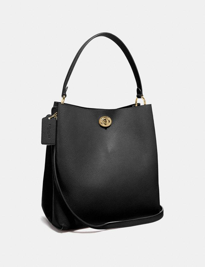 Coach Charlie Bucket Bag Black/Gold Personalise Personalise It Monogram For Her Alternate View 1