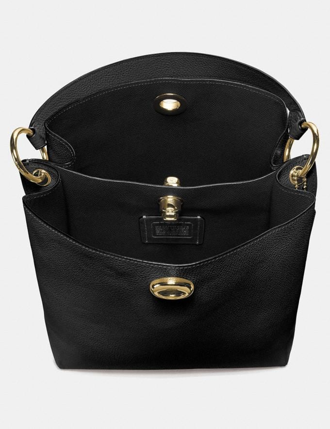 Coach Charlie Bucket Bag Black/Gold SALE Online Exclusives Alternate View 3