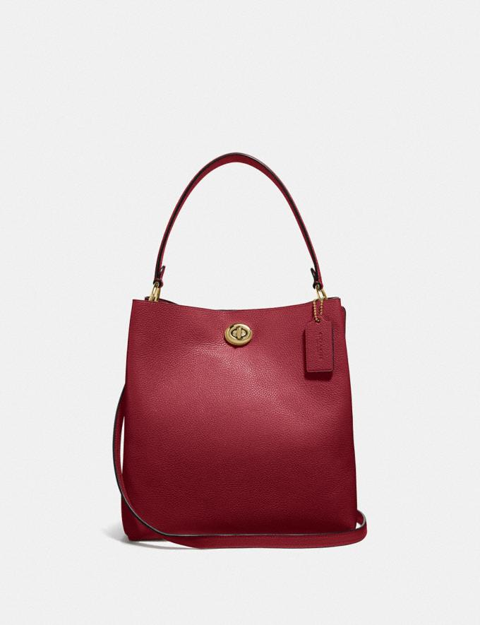 Coach Charlie Bucket Bag Gold/Deep Red Women Bags View All