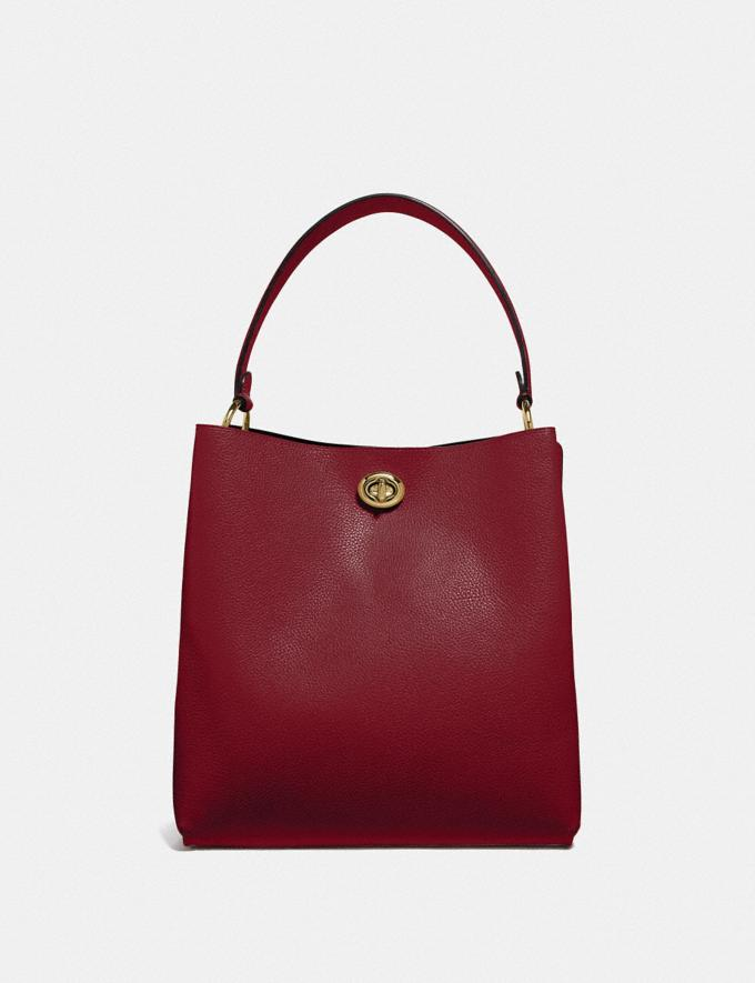 Coach Charlie Bucket Bag Gold/Deep Red Personalise For Her Bags Alternate View 2