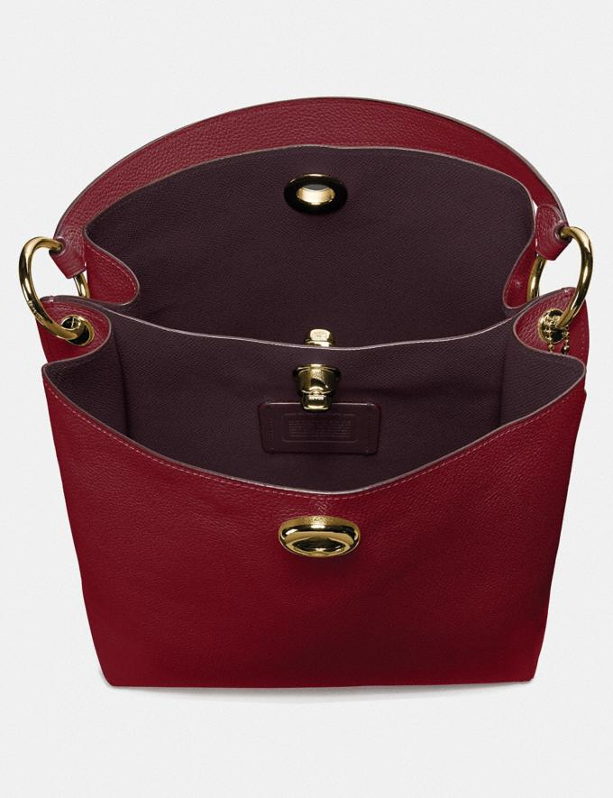 Coach Bolso Bucket Charlie Oro/Rojo Intenso  Vistas alternativas 3