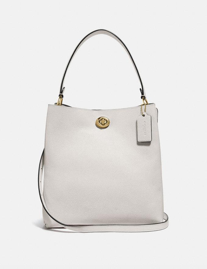 Coach Charlie Bucket Bag Chalk/Gold New Women's New Arrivals