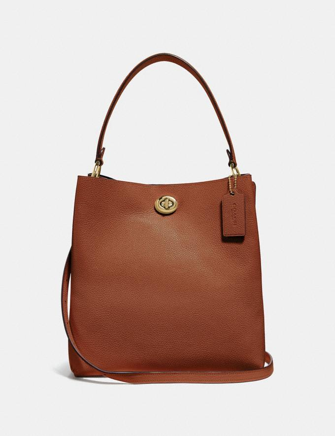 Coach Charlie Bucket Bag 1941 Saddle/Gold Women Bags Satchels