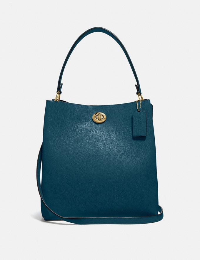 Coach Charlie Bucket Bag Peacock/Gold Gifts For Her Bestsellers