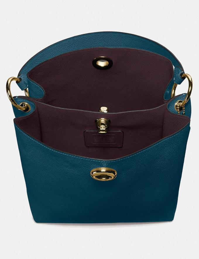 Coach Charlie Bucket Bag Peacock/Gold Gifts For Her Bestsellers Alternate View 2
