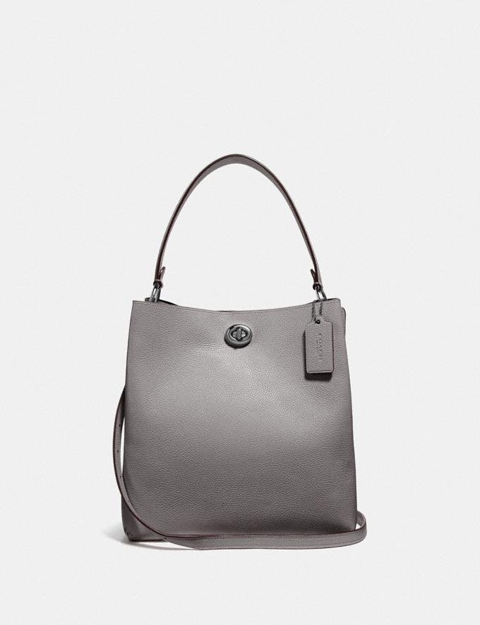 Coach Charlie Bucket Bag Gunmetal/Heather Grey New Featured 30% off (and more)