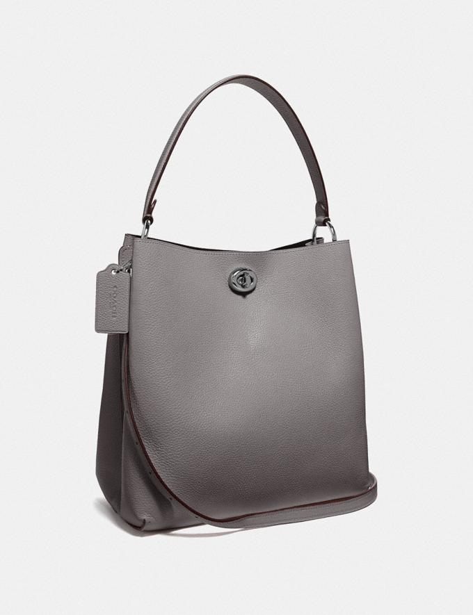 Coach Charlie Bucket Bag Gunmetal/Heather Grey Cyber Monday Alternate View 1