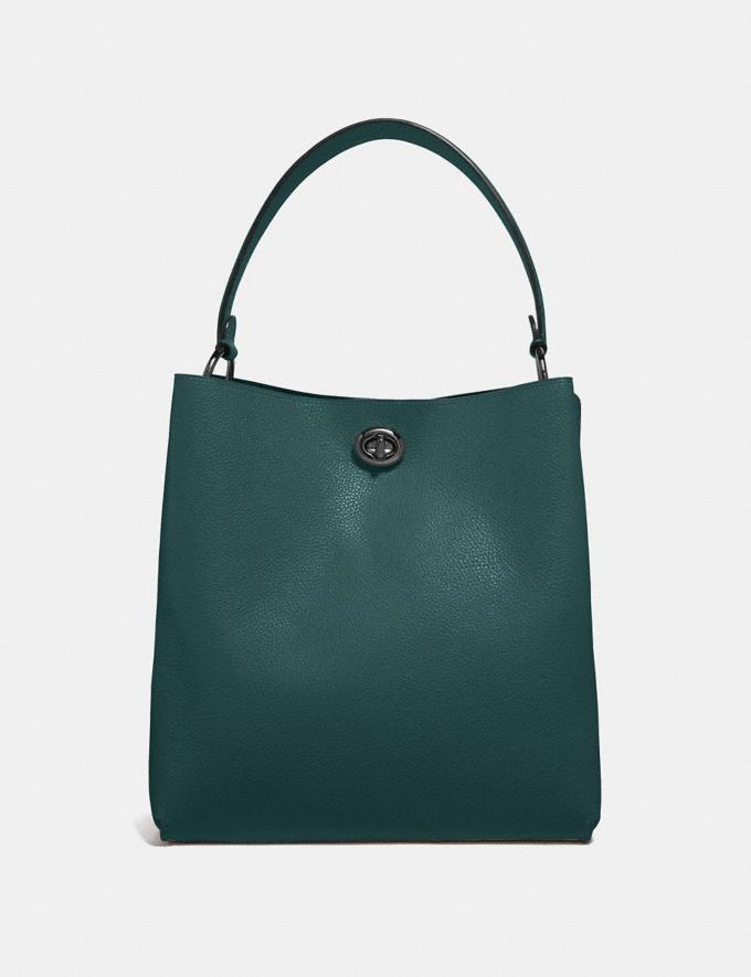Coach Charlie Bucket Bag Dark Turquoise/Gunmetal Women Bags Shoulder Bags Alternate View 2