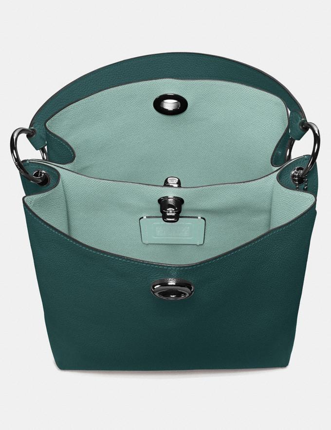 Coach Charlie Bucket Bag Dark Turquoise/Gunmetal Women Bags Shoulder Bags Alternate View 3