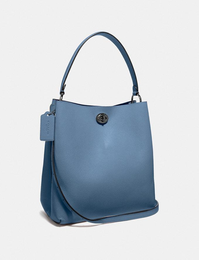 Coach Charlie Bucket Bag Gunmetal/Stone Blue Women's Single's Day Exclusive Alternate View 1