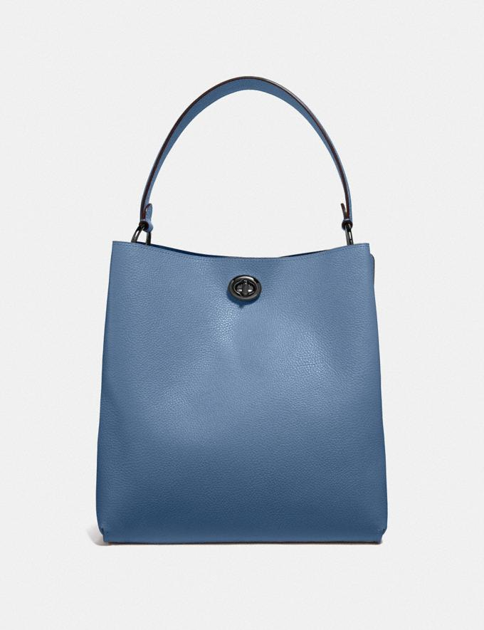Coach Charlie Bucket Bag Gunmetal/Stone Blue Women's Single's Day Exclusive Alternate View 2