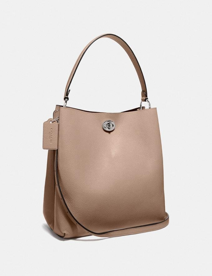 Coach Charlie Beuteltasche Heller Nickel/Taupe Damen Taschen Satchels Alternative Ansicht 1
