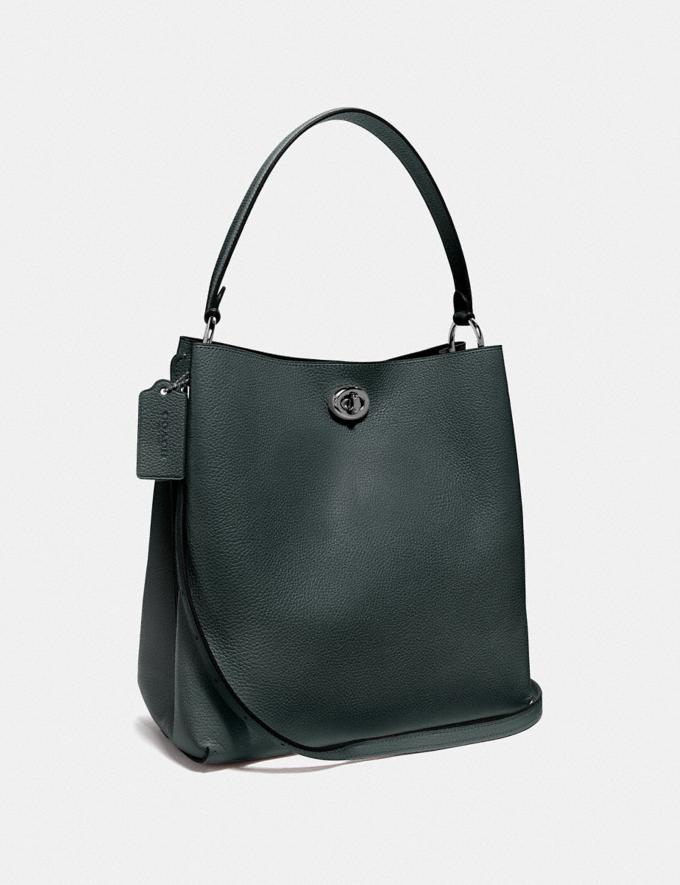 Coach Charlie Bucket Bag Pewter/Pine Green New Women's New Arrivals Alternate View 1