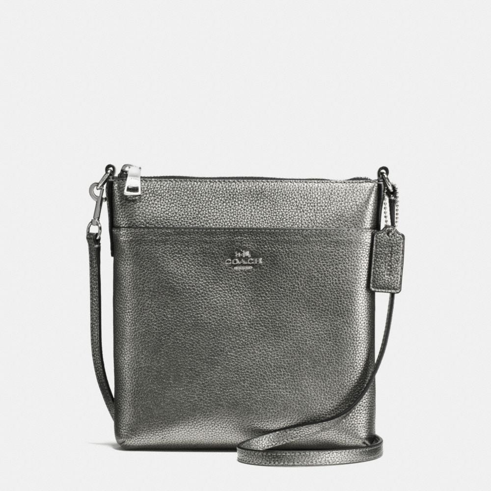 Courier Crossbody in Polished Pebble Leather