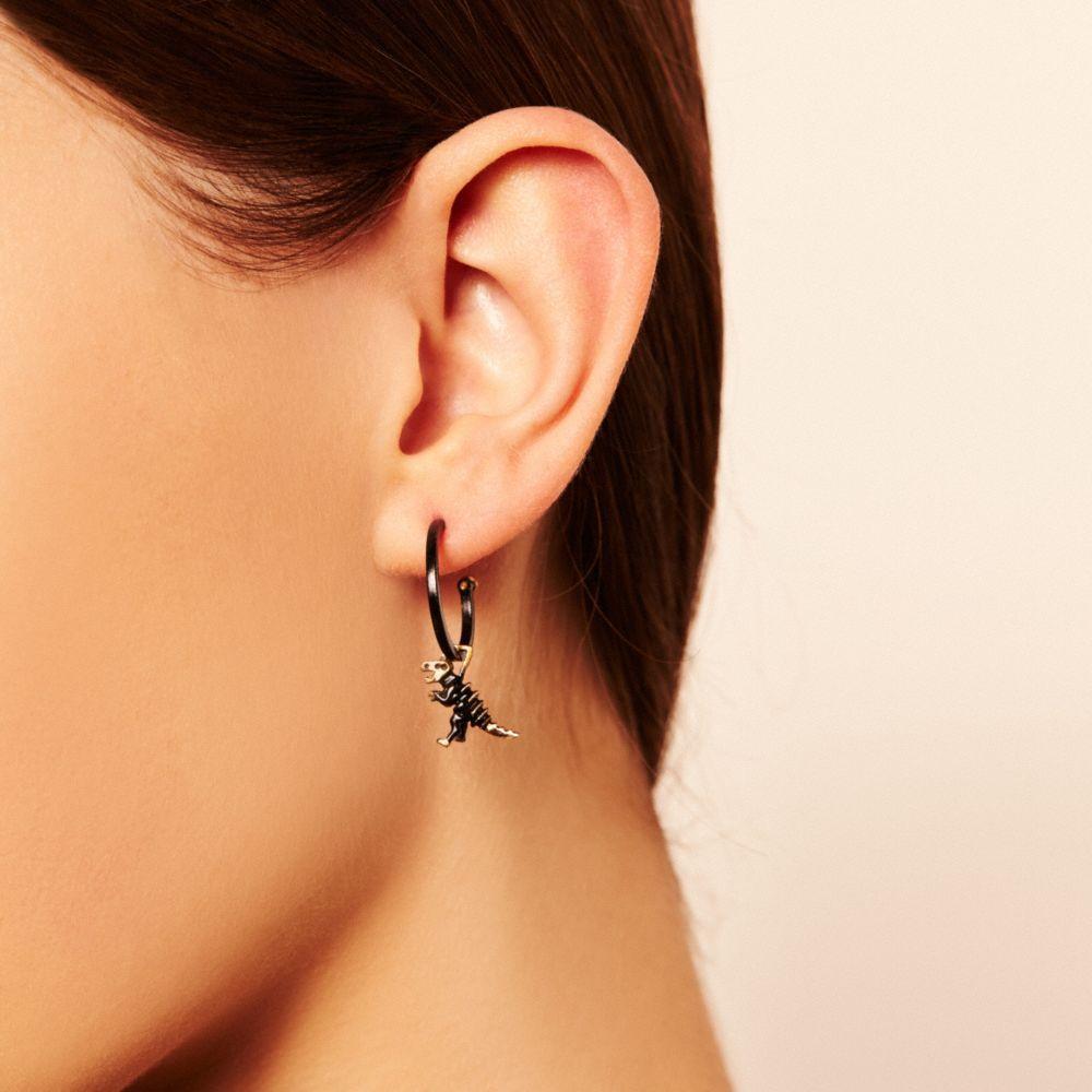Dinosaur Hoop Earrings - Alternate View A1