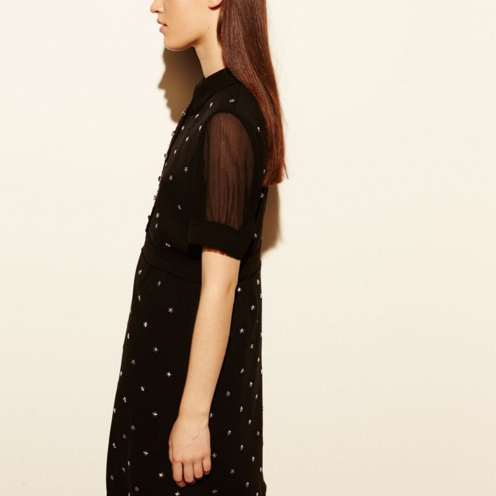 Star Stud Embellished Dress - Alternate View M2