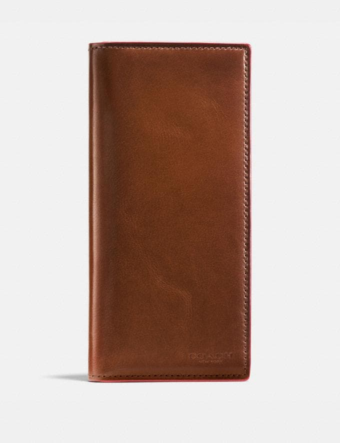 Coach Boxed Breast Pocket Wallet Dark Saddle SALE Men's Sale Wallets