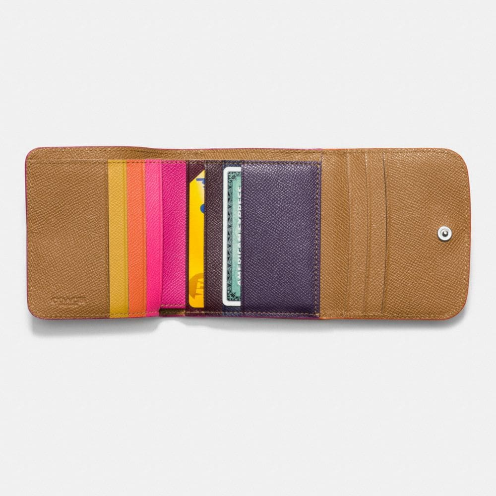 Small Wallet in Tricolor Edgestain Leather - Alternate View L1