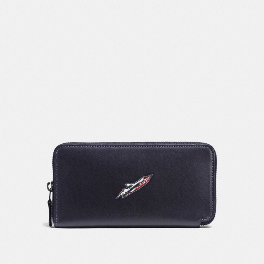 Coach Rocket Ship Accordion Wallet in Glovetanned Leather