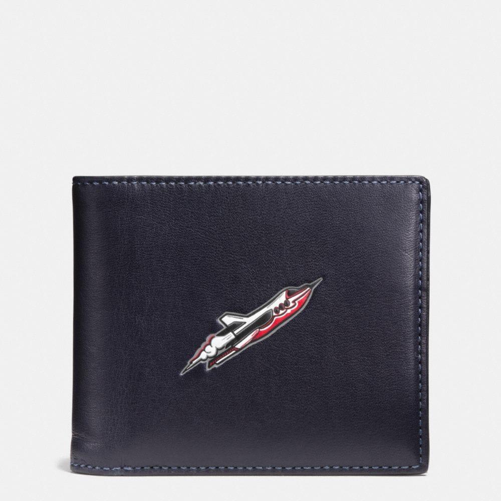 Rocket Ship 3-In-1 Wallet in Glovetanned Leather