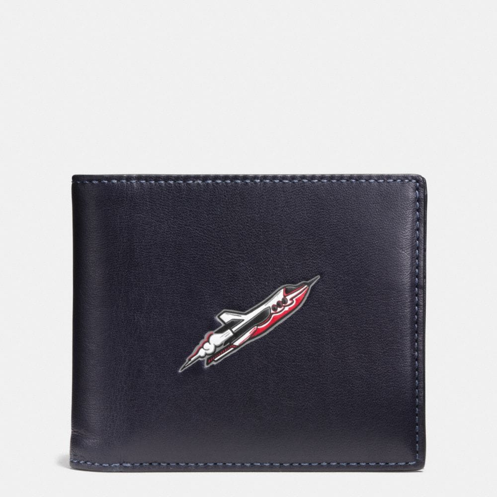 Coach Rocket Ship 3-In-1 Wallet in Glovetanned Leather