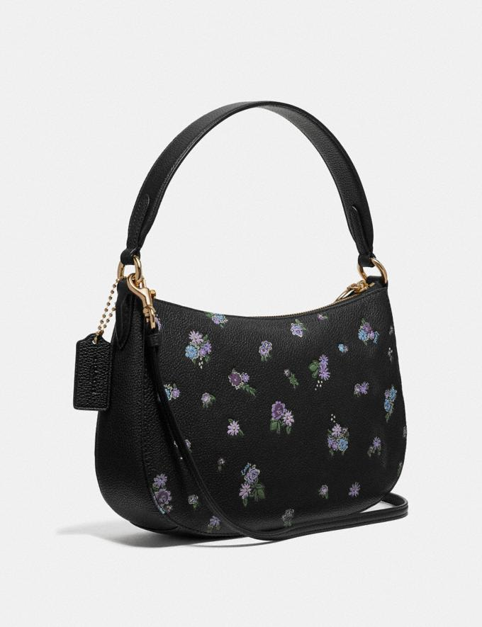 Coach Sutton Crossbody With Floral Print Black/Gold New Featured Online-Only Alternate View 1