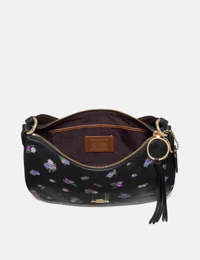 Coach Sutton Crossbody With Floral Print Black/Gold New Featured Online-Only Alternate View 2