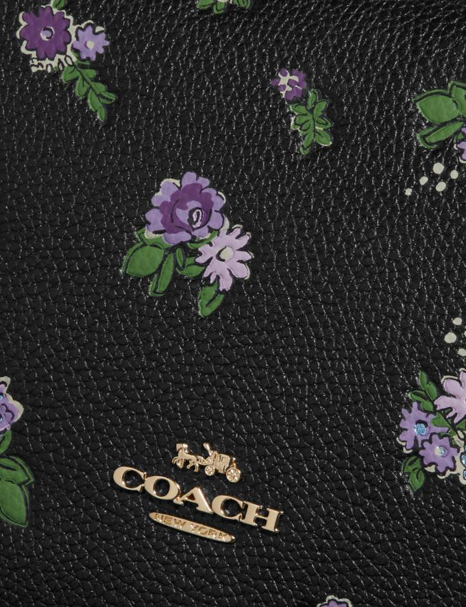 Coach Sutton Crossbody With Floral Print Black/Gold New Featured Online-Only Alternate View 4